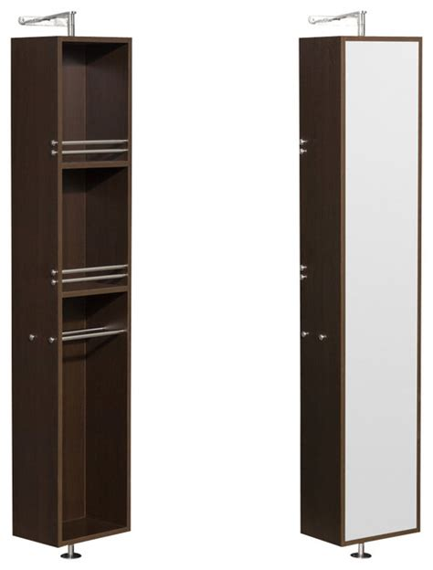 full length bathroom mirror cabinet amare linen tower rotating floor cabinet w full length