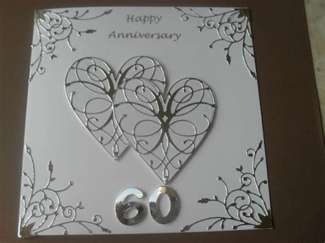 Handmade Wedding Anniversary Cards - handmade wedding anniversary card 60th wedding