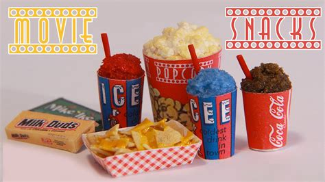 Movie Theater Home Decor by Movie Theater Snacks How To Make Miniature Popcorn Icee