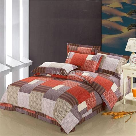 grey plaid bedding simple life red brown grey plaid cotton 4 piece full queen