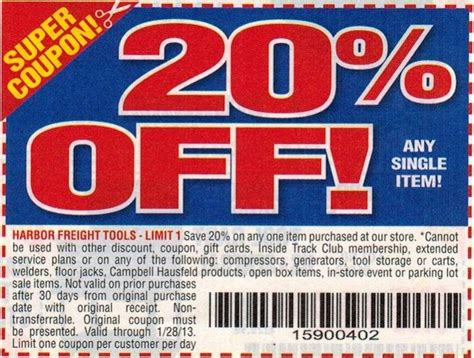 harbor freight coupon 2018 20 off