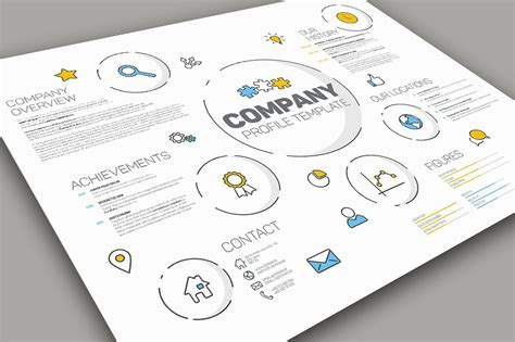 Modern Company Profile Template Presentation Templates Creative Market Company Profile Template
