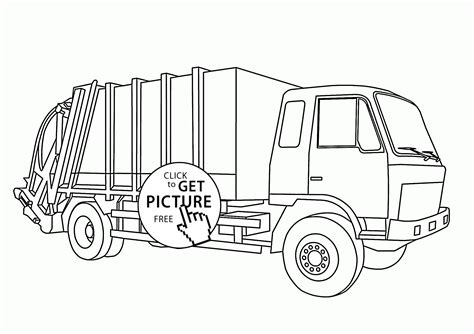 printable coloring pages garbage truck realistic garbage truck coloring page for