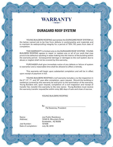 Warranty Certificate Templates   Blank Certificates
