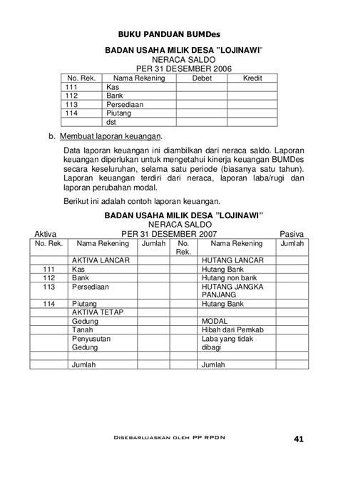 format laporan bumdes 1panduan bumdes