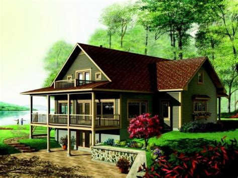 rustic home plans with walkout basement one story best