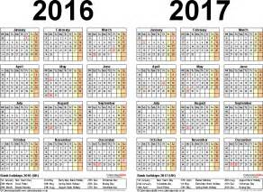 2 Year Calendar Two Year Calendars For 2016 2017 Uk For Pdf