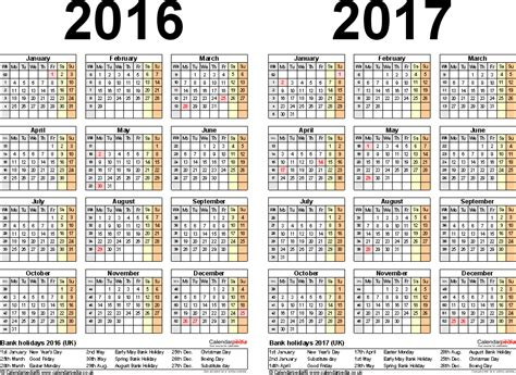 two year calendar template 2 year calendars calendar template 2016