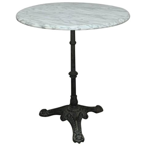 marble top cafe table parisian marble top bistro table for sale at 1stdibs