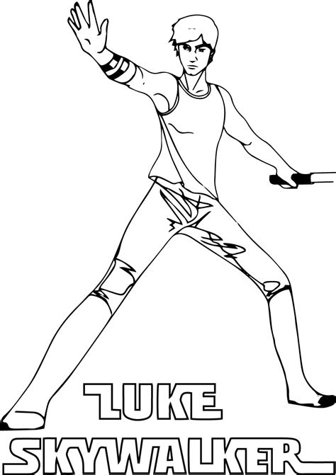 luke skywalker coloring page luke skywalker coloring pages to and print for free