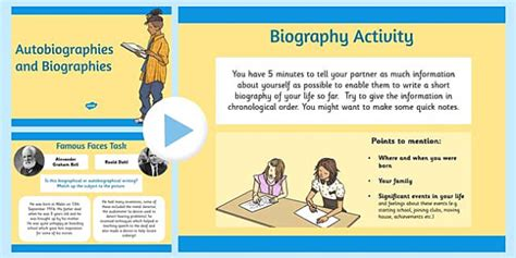biography features ks2 powerpoint autobiography and biography powerpoint biography