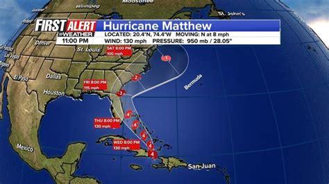 jacksonville track hurricane matthew s track closer to jacksonville wjax tv