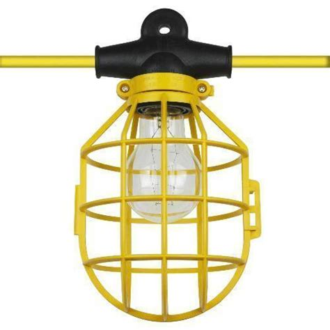 best construction work lights 100 ft temporary lighting string work construction