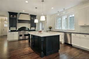 White Kitchen Black Island by Black And White Kitchen Designs Ideas And Photos