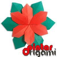 tutorial membuat gambar naga origami bunga poinsettia cara membuat origami bunga