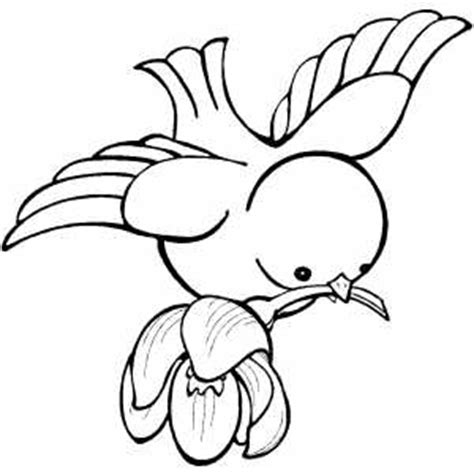 coloring pages of birds and flowers bird flying with flower on beak coloring sheet