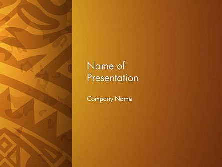 Ethnic Powerpoint Templates Brown Ethnic Ornament Powerpoint Template Backgrounds 14540 Poweredtemplate Com