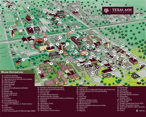 texas a and m map tamu map my