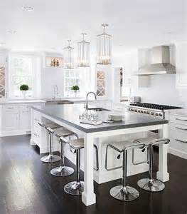 modern kitchen island stools gorgeous lem piston stools in white at the kitchen island decoist