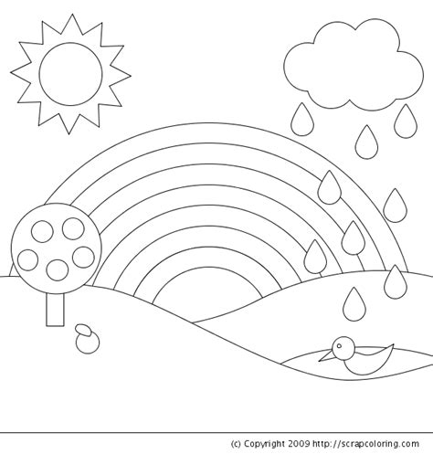 Coloring Pages Rainbow by Rainbow Coloring Page