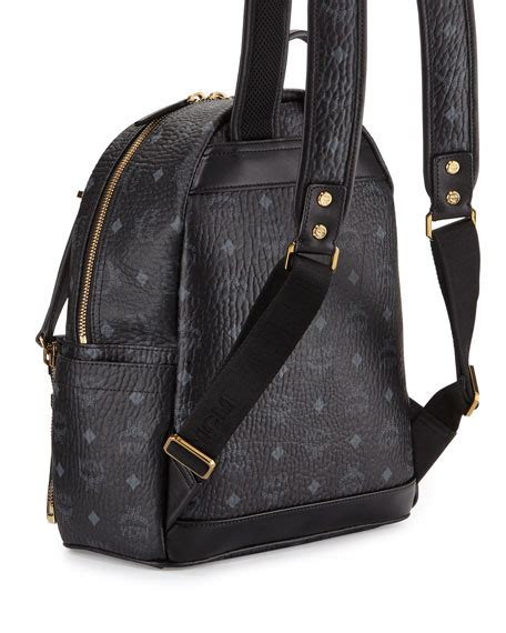 Rabbit Backpack In Visetos Black mcm dual stark small visetos backpack w pouch black