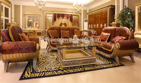 Luxury French Antique Royal Baroque Style Living Room Furniture Sofe Set/ European Palace