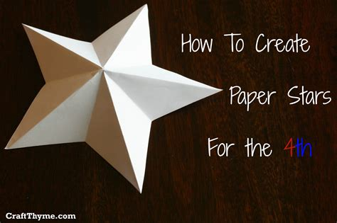 How To Make A 3d Paper - paper how to make 5 pointed 3 d craft thyme