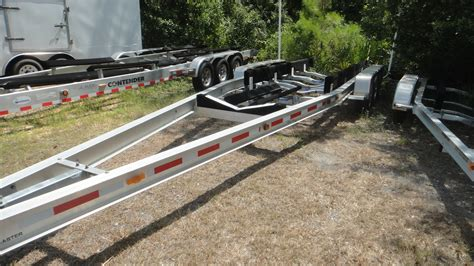 boat trailer triple axle used triple axle aluminum boat trailer the hull truth