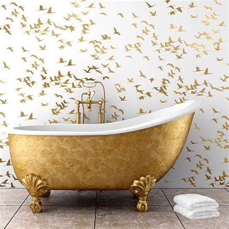 Bathroom Wall Stencil Ideas Flock Of Cranes Wall Stencil Reusable Wall Stencils For Easy Diy Home Decor On Storenvy