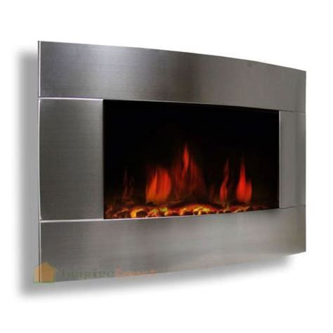 Stainless Steel Electric Fireplace by Stainless Steel 1500w Adjustable Electric Wall Mount