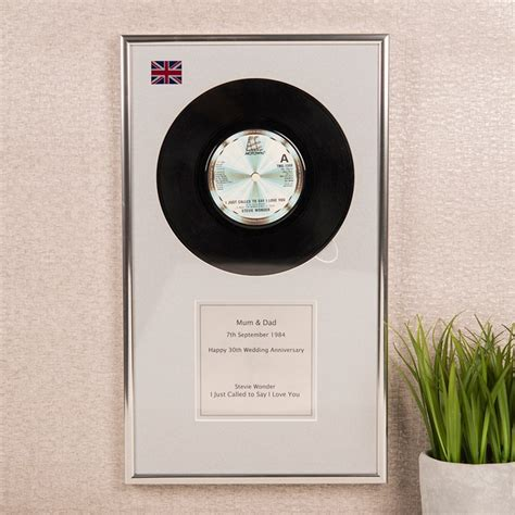 Wedding Anniversary Record by Personalised Vinyl Plaque Your Special Record