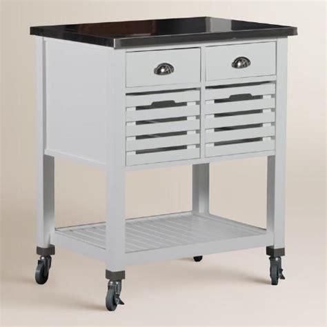kitchen cart stainless steel top stainless steel top vitale kitchen cart world market