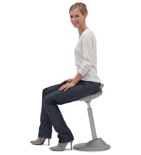 Person Sitting In Chair by Muvman Sit Stand Chair Aeris