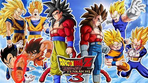 imagenes de goku transformaciones dragon ball z budokai tenkaichi 3 goku vs vegeta con