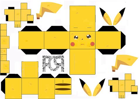 Papercraft Kits - puca papercraft kit pikachu