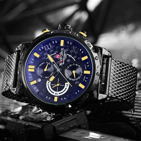 Quiksilver Sport Kulit Coklat Jam Tangan Pria navi jam tangan analog pria 9068 black yellow jakartanotebook