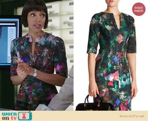 Camille Saroyan Wardrobe by Wornontv Camille S Abstract Print Dress On Bones Tamara Clothes And Wardrobe From Tv