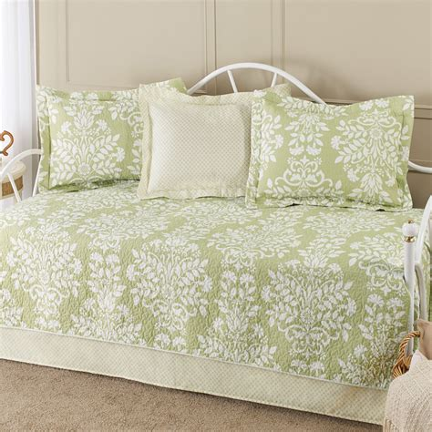 quilted comforters laura ashley rowland green daybed bedding set from