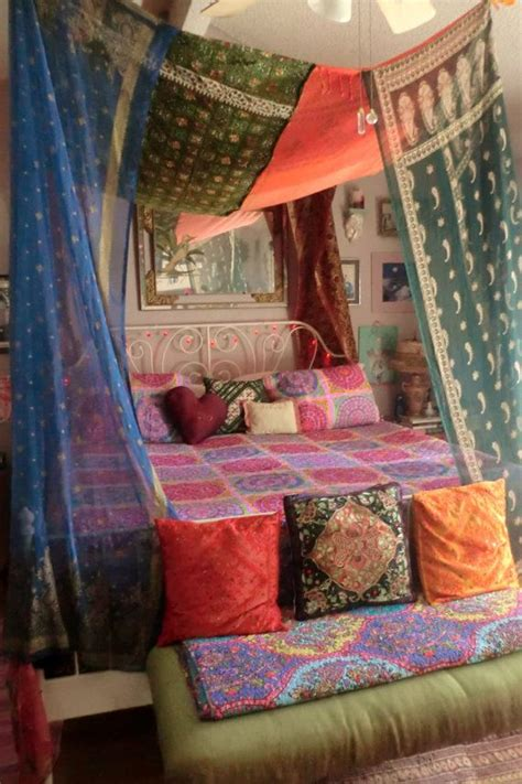 Bohemian Bed Canopy Need More Inspiration With Bed Canopy Boho Read This Bangdodo