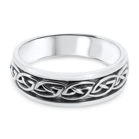 Wedding Bands Kilkenny by 14ct White Gold Celtic Design S Wedding Ring Ta46 V