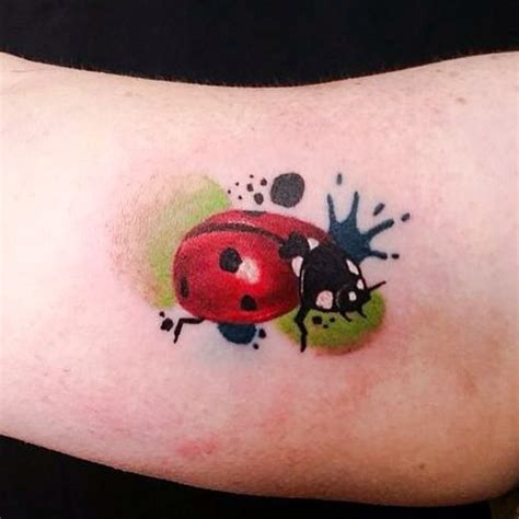 watercolor ladybug tattoo designs ideas and meaning