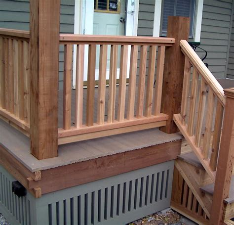 decking banister ideas for deck handrail designs 17865
