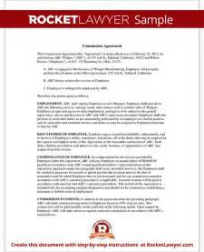 commission agreement template sales commission agreement template form with sle