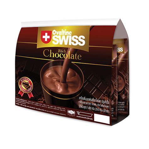 Ovaltine Swiss Rich Chocolate ช อกโกแลต 29 6 กร มx50 ซอง โอว ลต น swiss rich โกโก