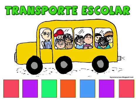 imagenes transporte escolar animado piruleta colorines cartel para los ni 209 os que van en