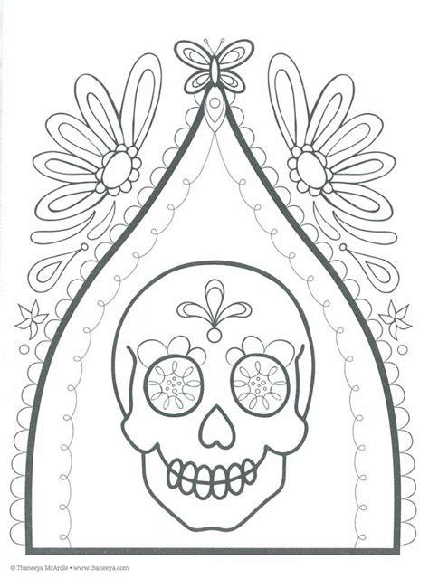 imagenes para colorear del dia de muertos dibujos para colorear el d 237 a de los muertos 33