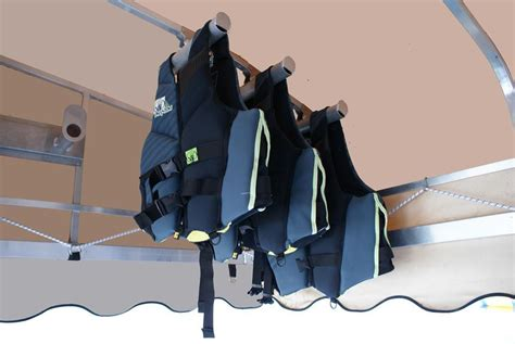 life jacket rack life vest hanger hepfner racing products