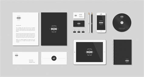 Collection Of Free Branding Templates Mockups Just Creative Branding Package Template