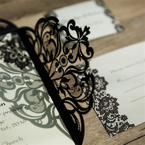 wedding invitation lace design laser cut wedding invitations