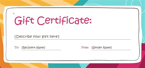 Free Gift Certificate Templates You Can Customize Gift Certificate Template Free